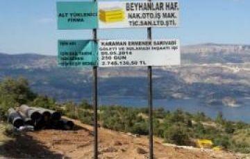 Karaman Ermenek Sarıvadi Göleti ve Sulaması İnşaatı İşimiz Başlamıştır.